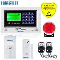 Free Shipping.APP Control Alarm anlagen Voice Prompt GSM Alarm Kit Door/Window Sensors Detectors Alert Wireless Alarm System