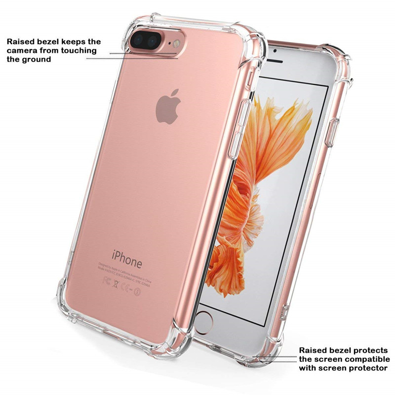 Ultra thin Clear Transparent TPU Silicone Case For iphone 6 6s 7 8 Plus x Protect Rubber Phone Case For iPhone 5s se XS MAX Case(China)