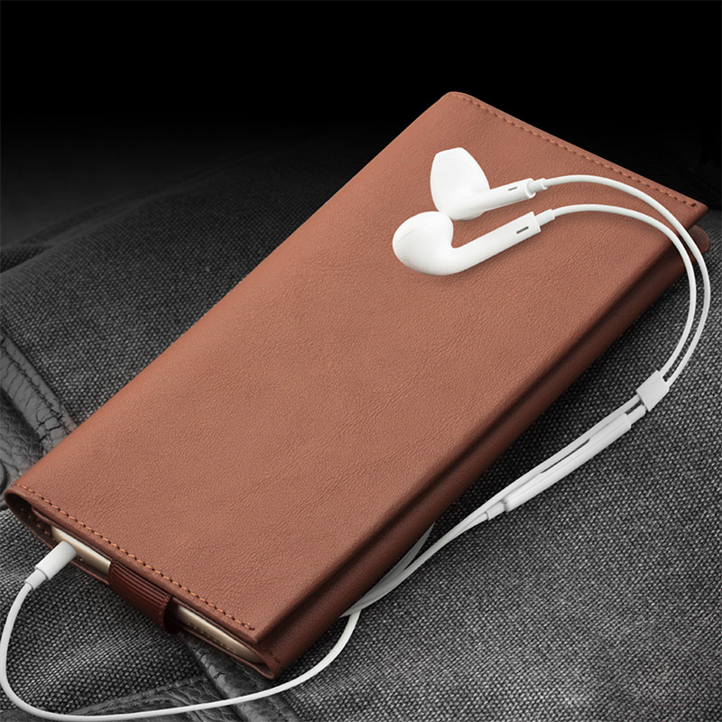newest 0d4e3 fd3a1 US $30.99 |QIALINO Case For iPhone 6 6s plus Wallet Pouch for iPhone 7  genuine leather Note 5 5.5 inch Card Slot Luxury Phone Bags & Cases-in  Phone ...