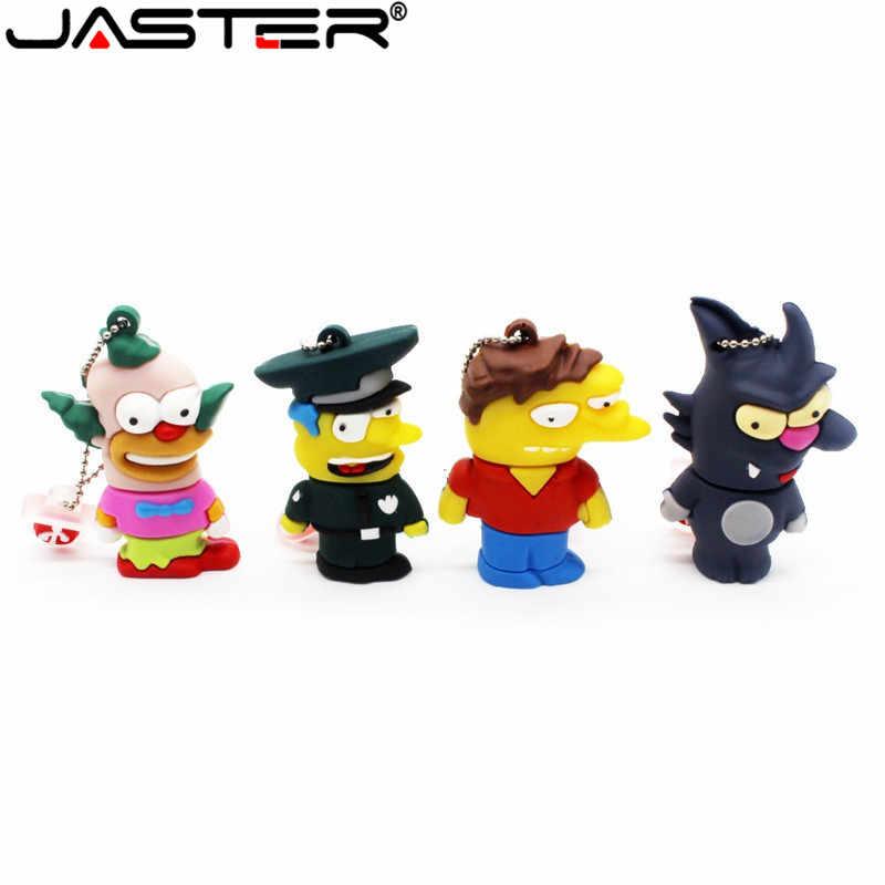 Jaster Bart Simpson Mouse Serigala 4GB 8GB 32GB 64GB Memori Stick U Disk Flashdisk Homer Pena drive USB Flash Drive