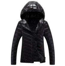ГОРЯЧАЯ ПРОДАЖА 2016 мужская зимнее Пальто сплошной цвет хлопка с капюшоном мужчин культивирования хлопка пуховик мужские Пальто Куртки