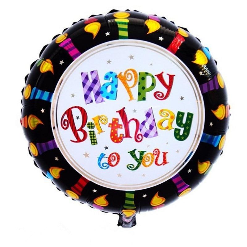 50pcs 18inch happy birthday balloon aluminium foil balloons helium balloon mylar