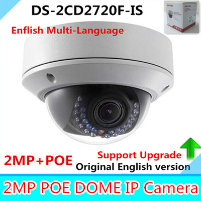 Hikvision IP Camera 2MP DS-2CD2720F-IS 2.8-12mm IP Camera 1080P POE Vari-focal IR Dome Security Outdoor Camera hikvision ds 2cd2742fwd is 4mp wdr vari focal dome camera