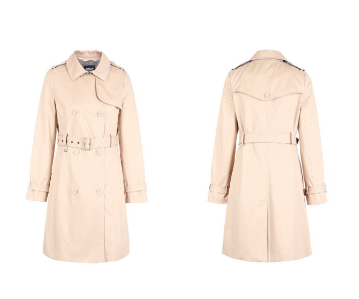 ONLY Women's Bi-tone Fabric Double-breasted Wind Coat 118336571 17