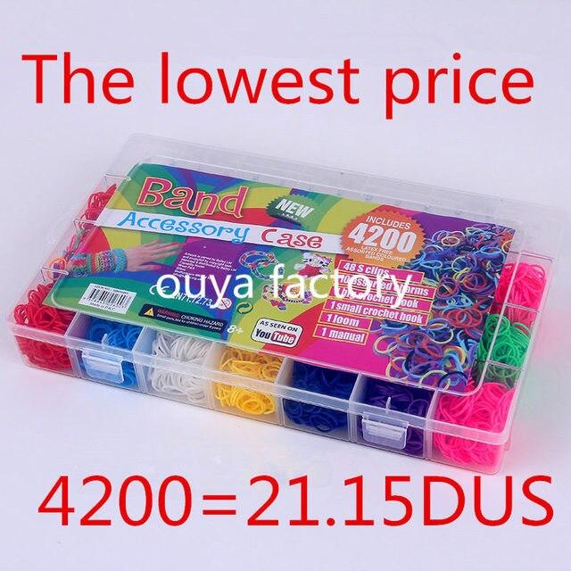 4200pcs high quality rubber fun loom band kit kids diy bracelet rh aliexpress com Loom Band Organizer Loom Band Organizer