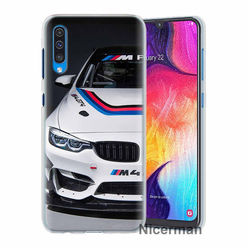 С принтом «Тачки», для BMW Мощность M логотип Чехлы для samsung Galaxy A30 A50 A70 A80 M10 M30 A7 A6 A8 + A9 2018 Жесткий Чехол для ПК чехол