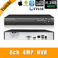H.265 +/H.264 8ch * 4.0MP/4ch * 5. 0MP/8ch * 1080P NVR Network Vidoe Recorder 1080 P/720 P IP камера с SATA Line ONVIF CMS XMEYE