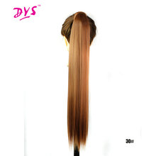Deyngs Synthetic Drawstring Ponytail Hair Extensions Women s Long Silky Straight Fake Pony Tail Hair Tress