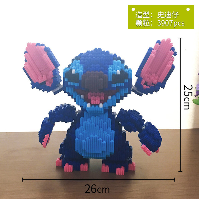 Xizai Big size Connection Blocks Anime Model Building Bricks Stitch Auction Figures Totoro DIY Assembly Toys for Children Gifts