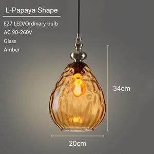 Image 3 - Nordic loft art deco glass pendant light LED E27 vintage modern hanging lamp for bedroom restaurant living room kitchen hotel