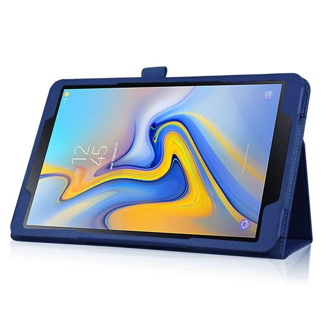 Funda para Tablet para Samsung Galaxy Tab A 10,5 T590 T595 SM-T590 Funda de cuero estilo Lichee plegable con tapa 10,5 pulgadas