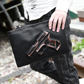 3D Print Gun Bag Men's bags Designer clutches bag Fashion men messenger bags Man envelope clutches Leisure small handbag