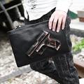 3D de Impresión Bolso Del Arma bolsas embragues de Diseño de Los Hombres de Moda bolsa de mensajero bolsas de Hombre del sobre embragues Ocio pequeño bolso de mano
