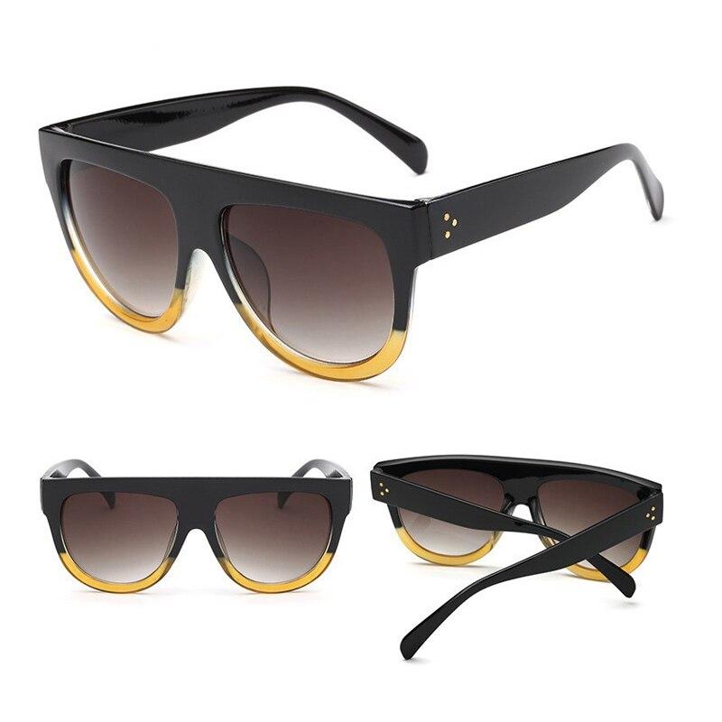 2017 Fashion Brand Women Sunglasses Luxury Brand Designer Vintage Sun Glasses Big Frame