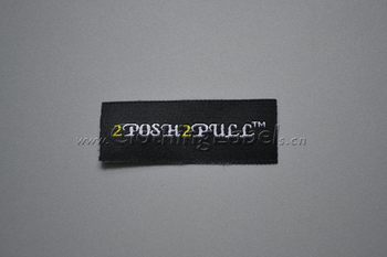 Clothing woven label, customized logo, heat cut edge, lower MOQ, high quality clothing label