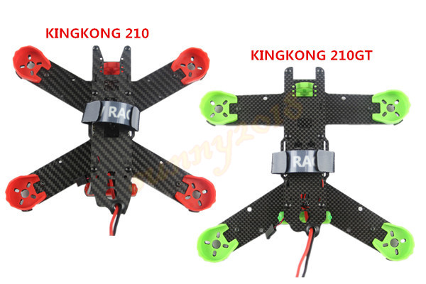 KINGKONG 3K carbon fiber 210mm 210 / 210GT Quadcopter Frame kit 1sheet matte surface 3k 100% carbon fiber plate sheet 2mm thickness