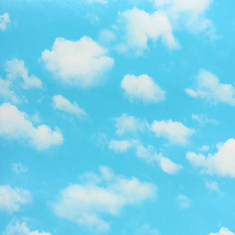 Decoracin del hogar moderno papel pintado del PVC del cielo azul  nubes de papel tapiz para
