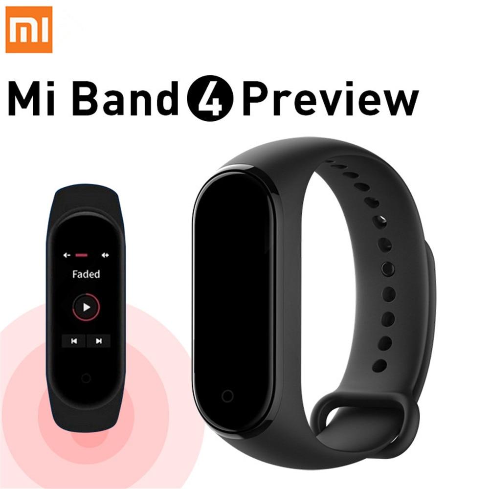 Presale 2019 Newest Xiaomi Mi Band 4 Smart Color Screen Bracelet Heart Rate Fitness 135mAh Bluetooth 5.0 50M Swimming Waterproof