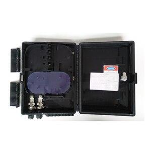 Image 5 - Boîtier de terminaison à fibers optiques 16 cœurs boîtier de distribution de fibers optiques 16 ports boîtier de répartiteur de boîtes à fibers optiques 2X16 cœurs FTTX noir
