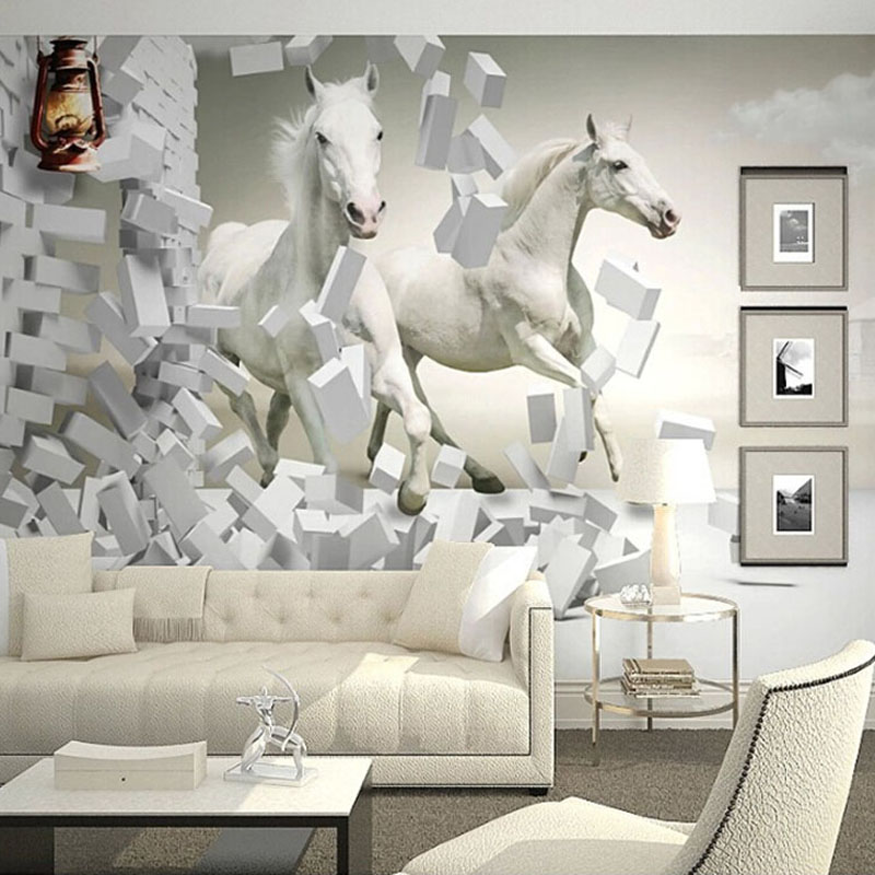 Online get cheap horse wall murals for Cheap wall mural posters