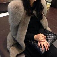 2018 new vest fox fur mink fur vest whole female short paragraph