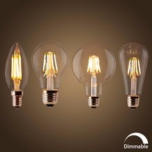 LED Filament Bulb E27 Retro Edison Lamp 220V E14 Vintage Candle Light Dimmable Globe Ampoule Lighting COB Home Decor(China)