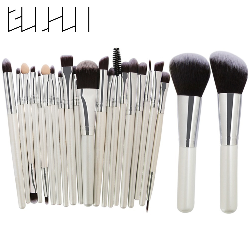 22pcs Makeup Brushes Set Pro Foundation Powder Eyeshadow Eyeliner Lips Concealer Contour Cosmetic Brushes Beauty Makeup Tool Kit 22pcs black makeup brushes set eyeshadow
