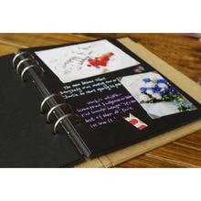 40 Pages Wedding/Baby/DIY/Loose-Leaf Photo Album Scrapbook Blank Photo Album Cover Kraft Album For Photos For Kids Case Binding