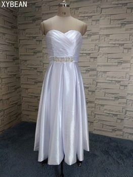 2019 Cheap Price ! 2019 New Free Shipping Sweetheart Crystal Sashes White / Ivory Wedding Dresses