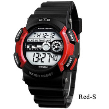 OTS TOP Brand Fashion Boys and Girls Kids Alarm Date Children's Waterproof Digital Led Watch Sports Stopwatch Wristwatches 2017