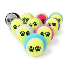 6CM Tennis Ball For Pet Chew Toy Big Inflatable Tennis Ball Signature Mega Jumbo Pet Toy Ball Supplies Outdoor Toys