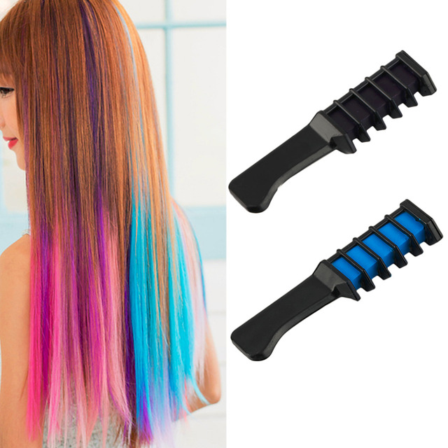 Disposable Personal Use Hair Dye Comb Professional Salon Semi Permanent Color Chalk Tool Hand Held Design