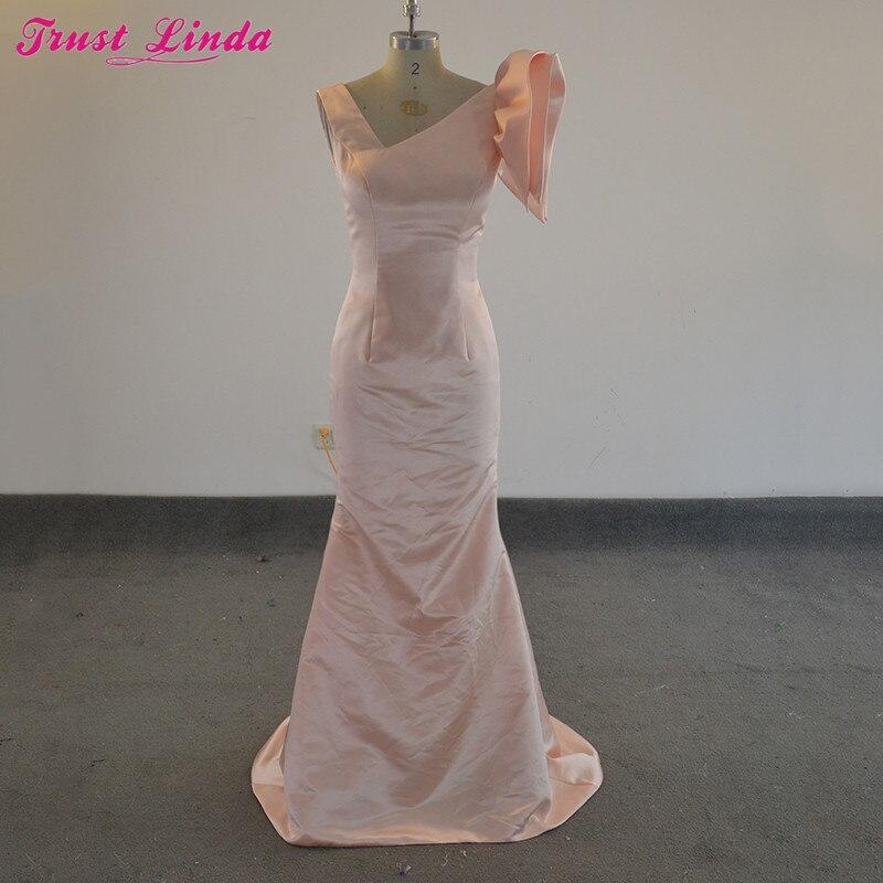 Vestidos de Formatura Longo Modest Long   Bridesmaid     Dresses   Simple Mermaid Prom   Dress   Gala   Dress   for Graduation Bridal Party Gown