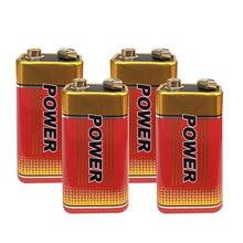 Cncool 4Pcs New 6F22 Extra heavey duty 6F22 9V Batteries Carbon Zinc Battery 9 Volt Battery цена в Москве и Питере
