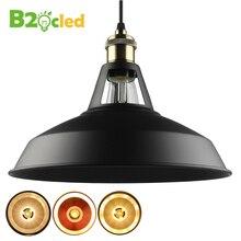 B2oc Industrial retro style Art LED Pendant light black white Edison bulb American village lamps Hanging Lamps luminaries