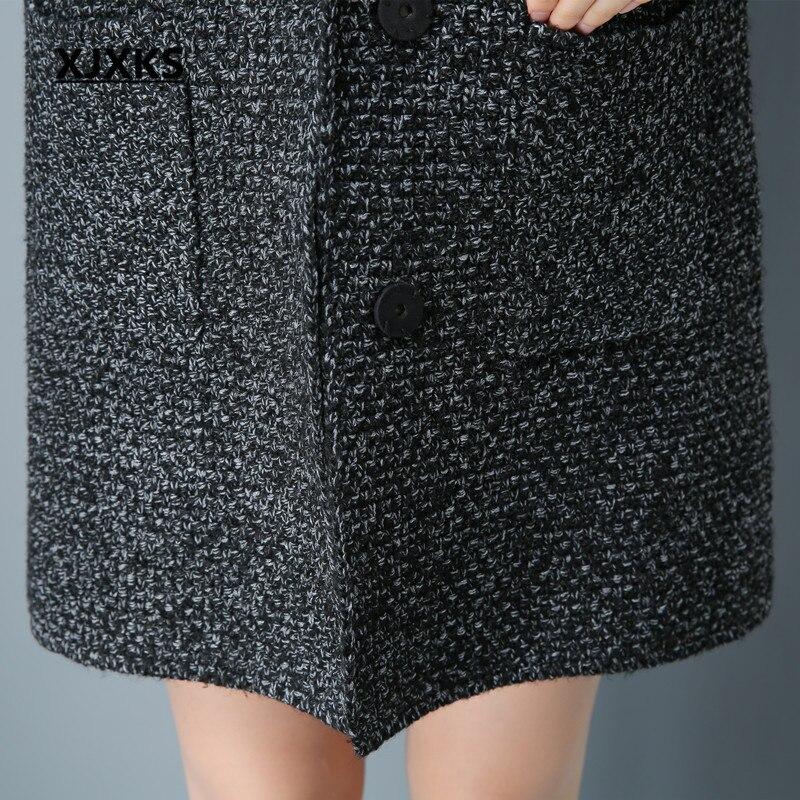 Cardigan Femmes D'hiver Poitrine Solide 3381 Manteau Long Femelle Crochet Gris Pull Turn Unique Mode down Xjxks Col Couleur Z1xqdnpqU