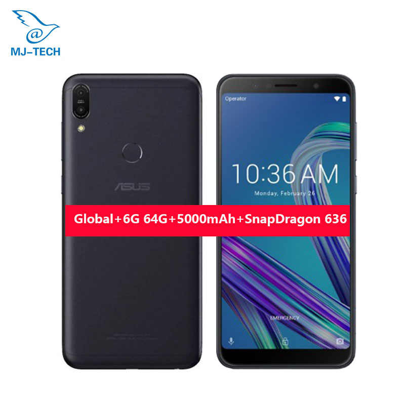 ASUS ZenFone Max Pro M1 ZB602KL 6G 64G 6 дюймов 18:9 FHD Snapdragon 636 Android 8,1 Dual 16 МП 4G LTE Face ID Samrtphone