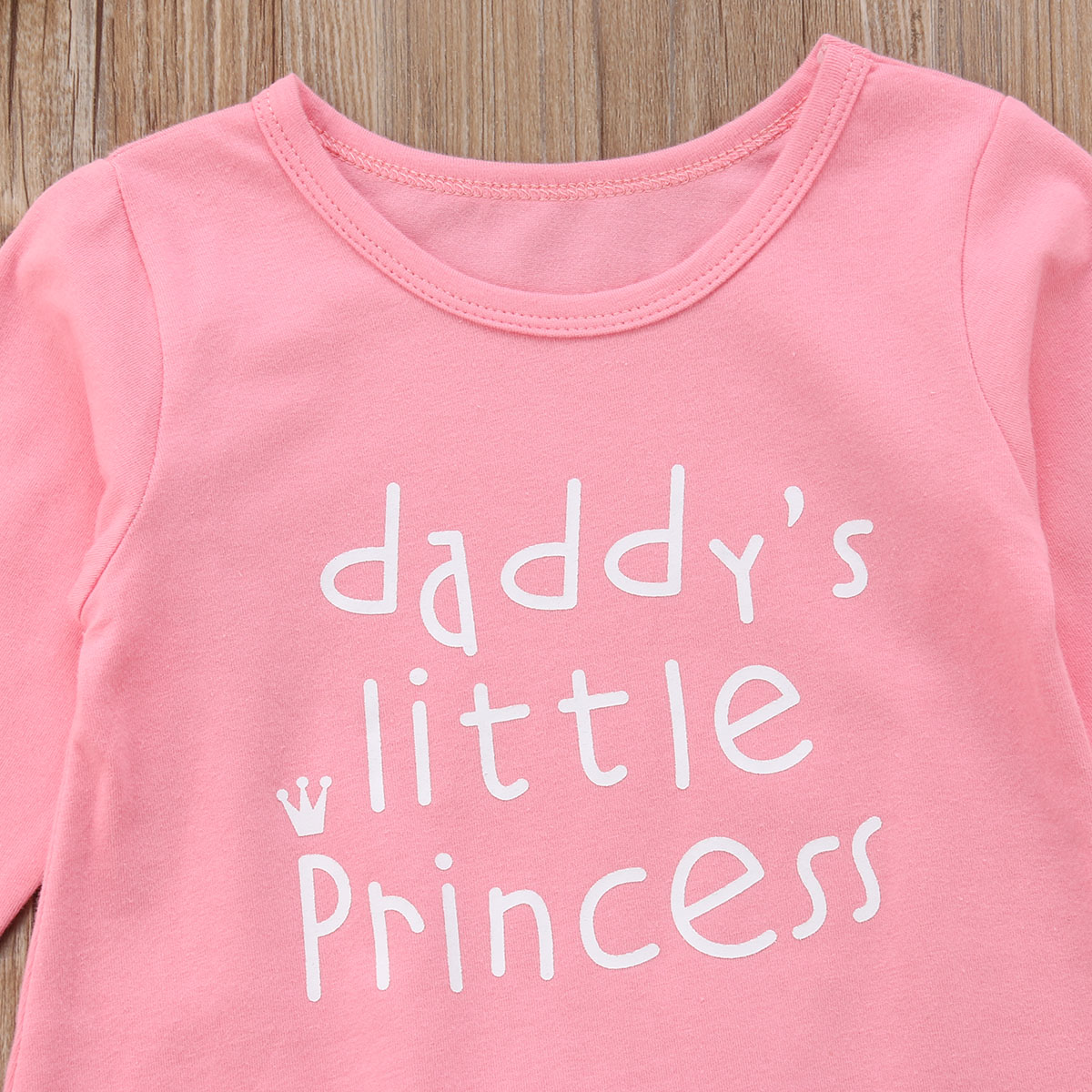 afeaae09df3 2Pcs Newborn Baby Girl Daddy s Little Princess Jumpsuit Infant Long Sleeve  Romper + Headband Outfit Set-in Rompers from Mother   Kids on  Aliexpress.com ...
