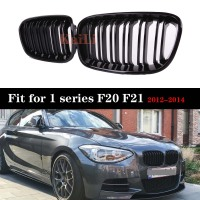 ABS Replacement Matt Gloss Black Front Kidney Grille Grill Double Line Racing Grills For BMW 1 Series F20 F21 2012 2013 2014