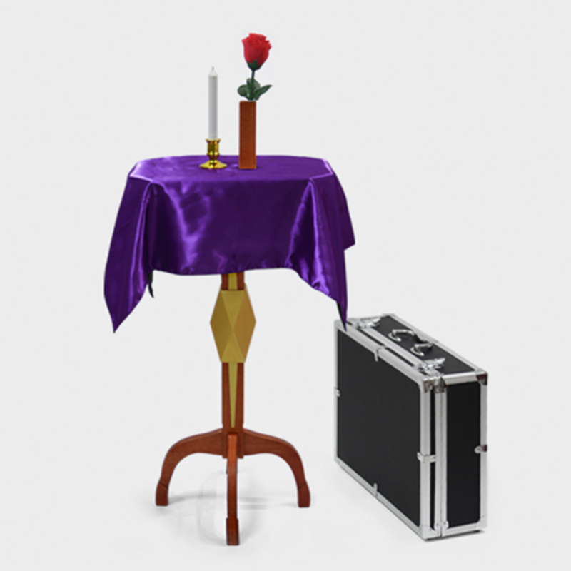 Deluxe Floating Table With Anti Gravity Vase Candlestick Magic Tricks Magician Stage Illusion Gimmick Props Floating