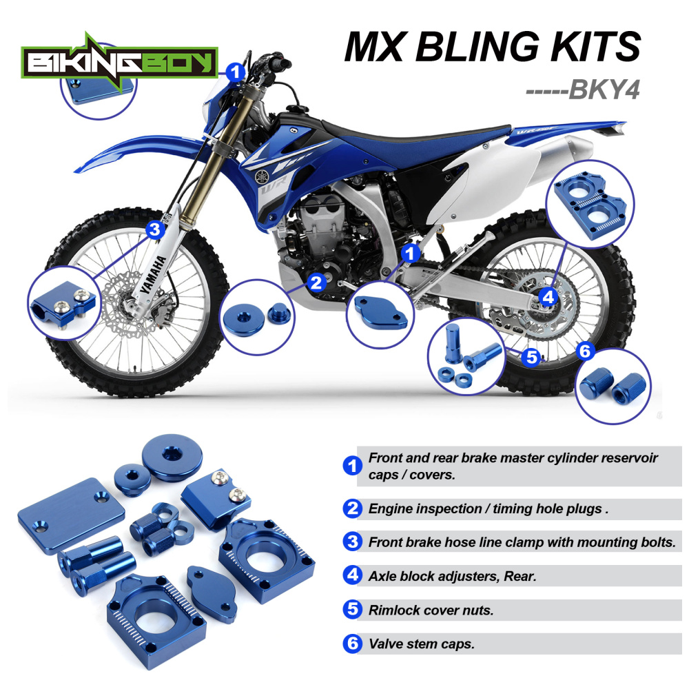 YAMAHA YZ250F BLUE BLING KIT 2009-2013 MX Bling Kits YZF YZ F 250 2010 2011