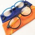 Elegantes Óculos De Leitura + 1.0 + 4.0 Azul Clássico Colorido Jovem Rodada Mulheres Óculos de Leitura Com Bolsa de Pano Macio