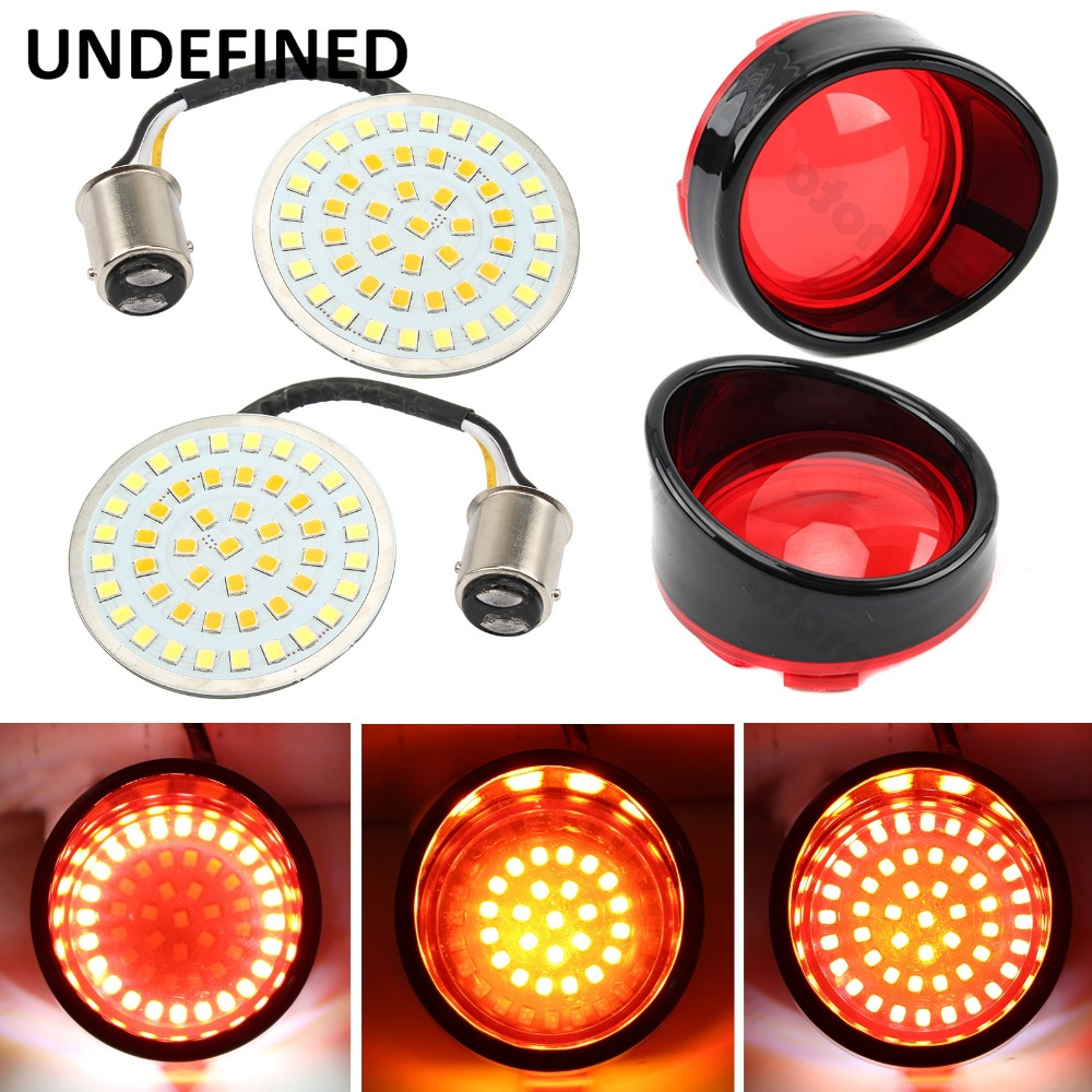 Motorcycle Bullet Led Turn Signal Indicator Light Lamp Home lens Cover For Harley Touring Sportster Xl Glide Dyna Softail Flstf 1157