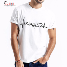 2QIMU 2019 Fashion Cotton Patchwork Print T-Shirts  Summer Short Sleeve T-Shirt Mens Casual Style O-Neck Top Tees