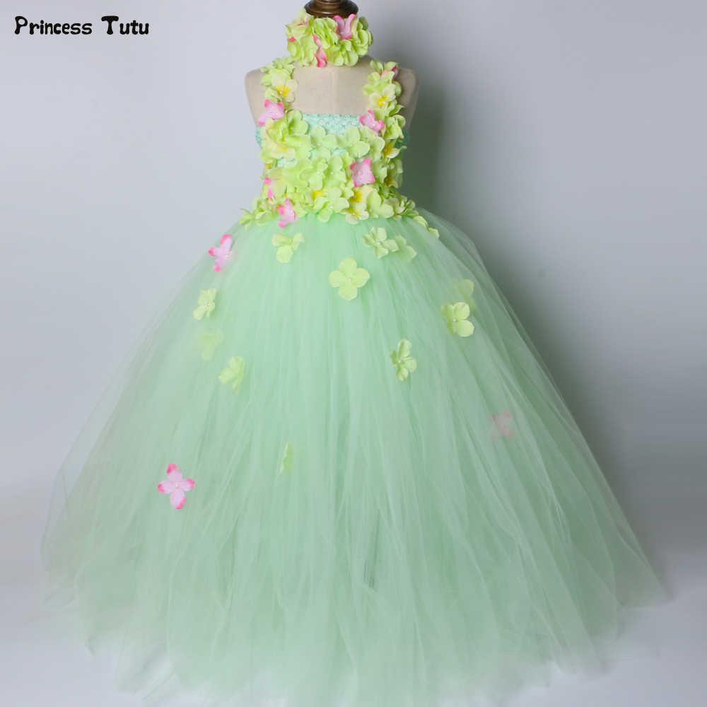 348b5451a0 Detail Feedback Questions about Light Green Flower Girl Tutu Dress ...