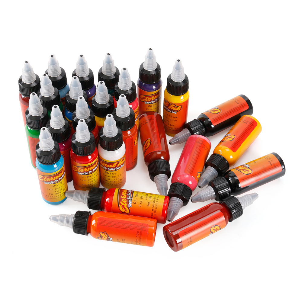 30ml/ bottle tattoo ink set Microblading permanent makeup art pigment 16 PCS cosmetic tattoo paint for eyebrow eyeliner lip body 10 colors tattoo makeup permanent tattoo ink set 15ml one bottle biotouch pigment for eyebrow embroidery tattoo makeup pigment