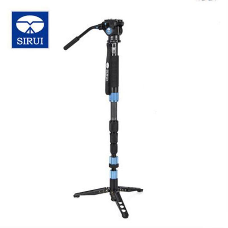 SIRUI Hot Portable P 224S VA5 Carbon Fiber Photo Video Monopod Compact Hydraulic Head For Canon