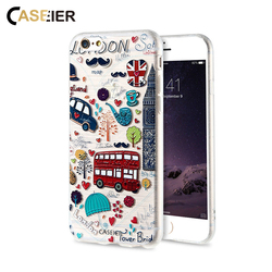 CASIER Girl Flower Case For iPhone 7 6 6s Case iPhone 5s se Cases For Samsung Galaxy S7 S6 Edge Embossed Soft TPU Cover Shell 5