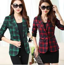 THYY 2018 Plaid Full Spring Autumn Coat Blazer Women Suit Ladies Refresh Blazers Comfortable Women's Blazers Free Shipping A837