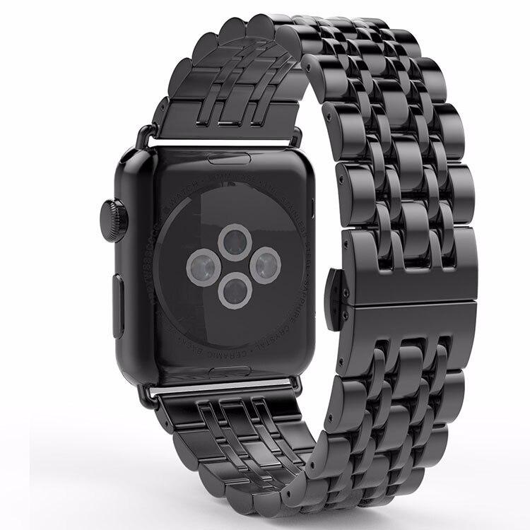 Qualität Voll Edelstahl Raum Grau Armband Für Apple Uhr Band 38mm 42mm Armband Armband Versteckten Verschluss Sport edition